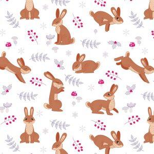 White Rabbit Festive Pattern
